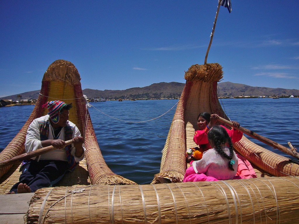 For the Uros mayor of a floating island, running a water taxi is a family business. - William Bezdek
