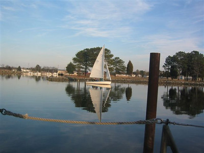 Sailing on New Year's Day, Madison Bay, Md.