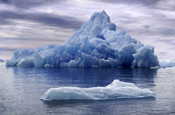 Iceberg in Endicott Arm, Alaska, 1999 by M A Felton