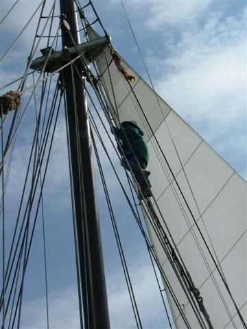 Climbing the rat lines, Water World
