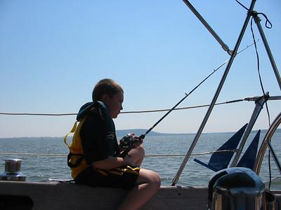 Dylan enjoys fishing